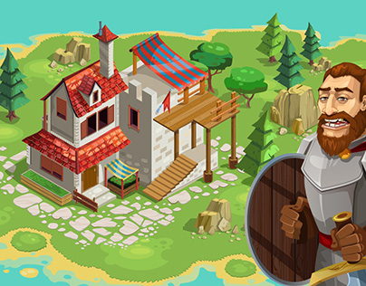 Isometric Medieval City Game