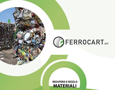 Restyling Ferrocart web site, folder, business card