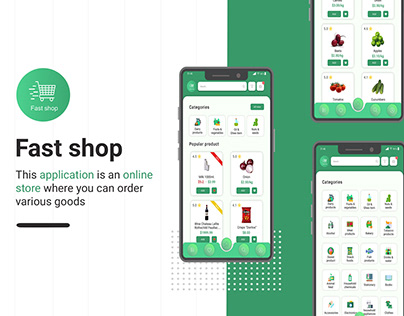 Fast shop online store. Mobile application for android