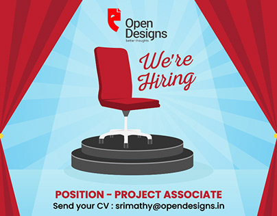 Job Opening for Project Associate for Open Designs