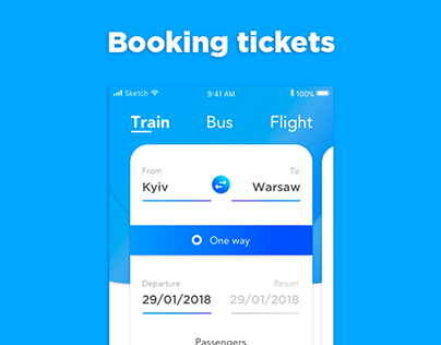 Booking tickets app