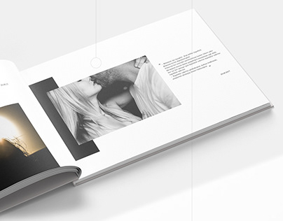 Creating a book design and layout.Story of love.