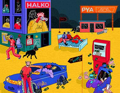 Halko & Pya / Single cover