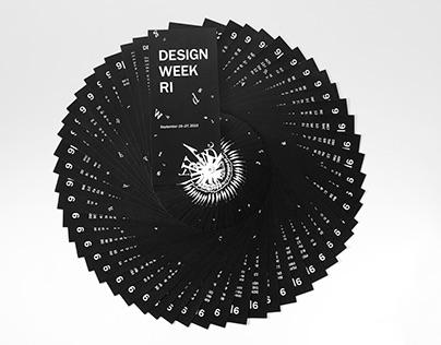 Design Week RI 2015, Schedule of Events