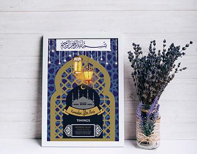 Unique Ramadan Flyer