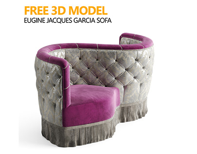 FREE 3D MODEL : Eugine Jacques Garcia Sofa