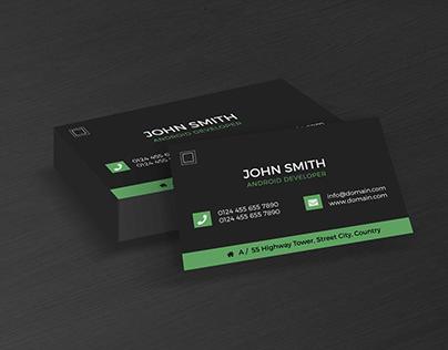 Perspective Dark Business Card PSD Mockup