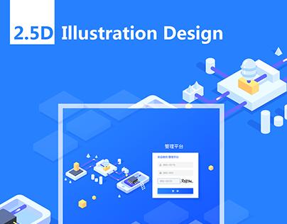2.5D illustration Design