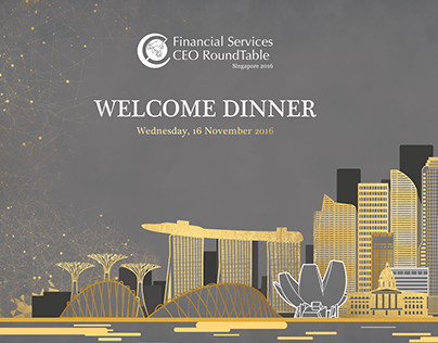 Financial Services CEO RoundTable Welcome Dinner 2016