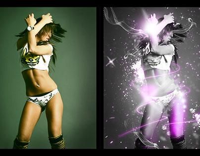 Playground work - Creating effects on dancer - 2012