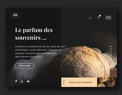 Daily challenge design - home page BB boulangerie.