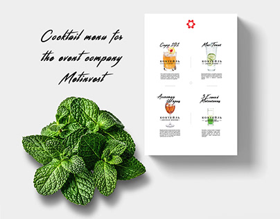 cocktail menu for Metinvest event