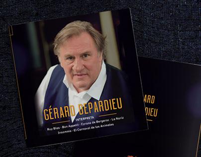 Graphic design for Gérard Depardieu at Teatro Colón
