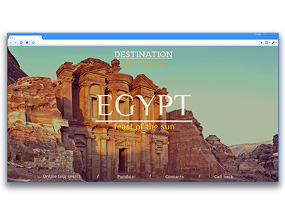 Home page of the information site