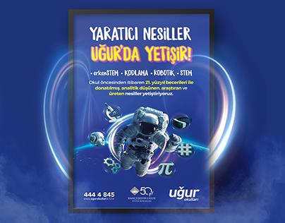 Astronaut Futuristic Poster Design