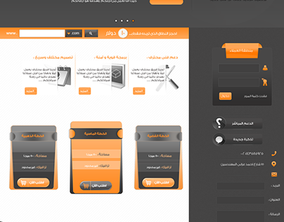 Web template for hosting services