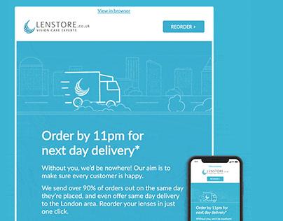 Lenstore (Animation & Illustration for Email Campaign)
