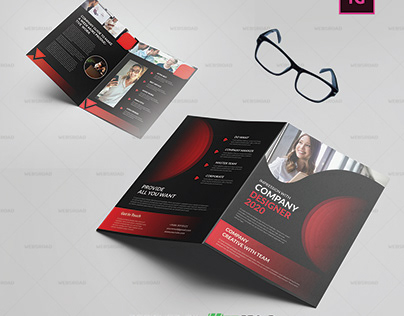 Covrt Business BiFold Brochure Template Free Download