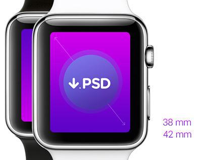 FREE  Apple Watch  |  Download PSD Template #freebie