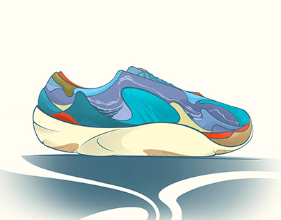 Violet Lifestyle sneaker concept