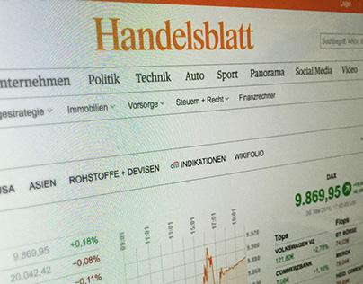 Redesign of handelsblatt.com