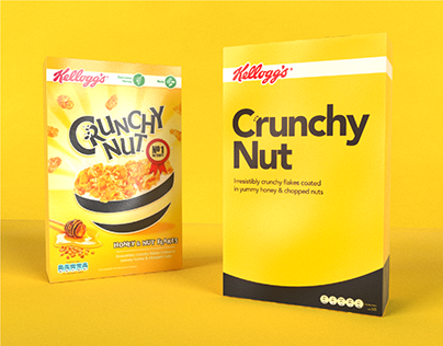 Daily Project | Cereal Packaging Design | Crunchy Nut