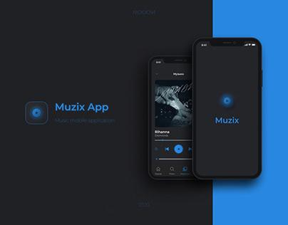 Muzix - Music app design (UI/UX)