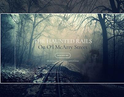The Haunted Rails // Spooky Halloween Website