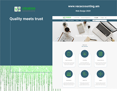 Web design for accounting company