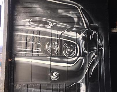 Mural dodge challenger