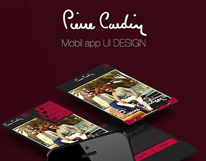 Pierre Cardin Mobil App UI Design