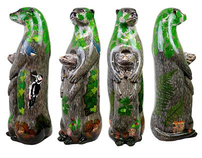 Dartmoor Moor Otter Sculpture Art Trail