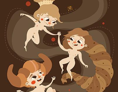 """II Certamen de Ilustración dulce. """"Las tres gracias"""""""