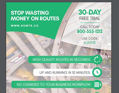 Rowtr direct mail flyer - DESIGN & COPYWRITING
