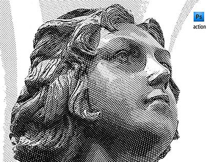 Engraver photoshop action