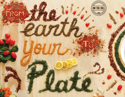 From the Earth to Your Plate - Food Lettering