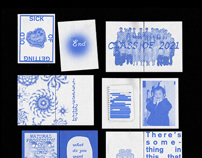 SICK OF GETTING OLD: A Blue Zine