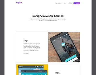 Mobile app development Homepage design