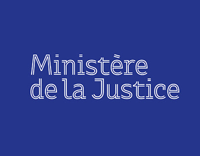 French Ministry of Justice - Visual identity