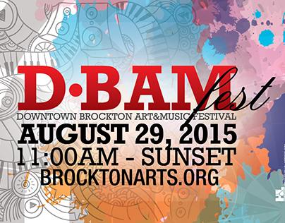 Brockton Arts D•BAM FEST Flyer & Poster