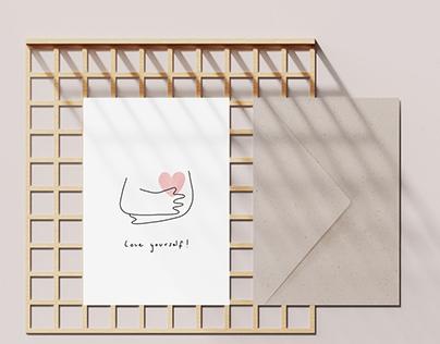 Eökke — Eco Greeting Card — Love Yourself