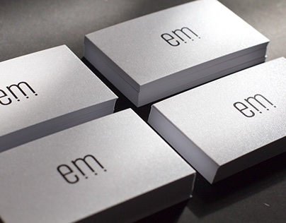 Business Card on pearlescent paper