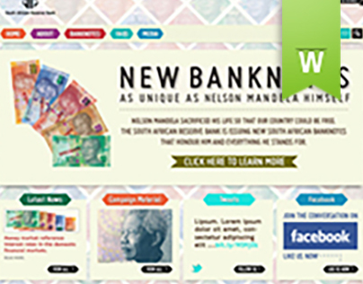 SARB Banknotes website, Mobile site and Social Media
