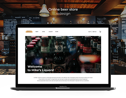 UX/UI Online beer store   redesign