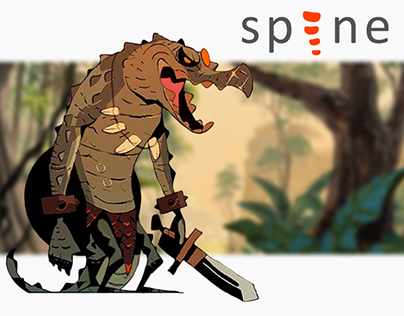2D Spine Animation - Crocodile