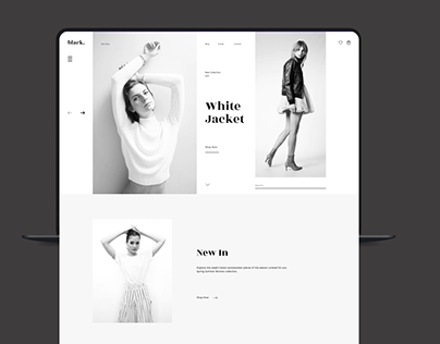 Black Fashion store _ UI/Identity design