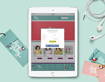 Hey Baby Branding & E-commerce Website