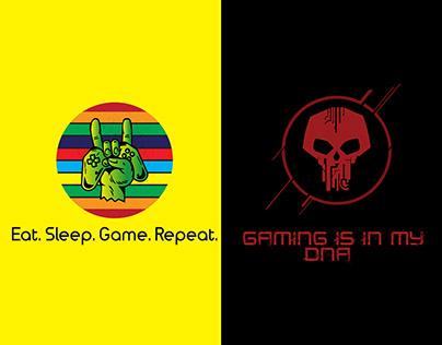 Gaming T-Shirts Design.