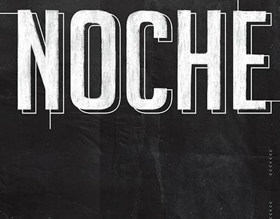 NOCHE - Typography (Gabriele 1. DG. FADU UBA)