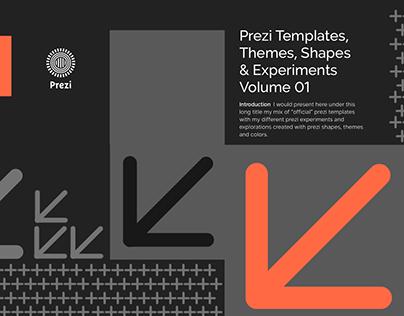 Prezi Templates, Themes, Shapes & Experiments Vol 01